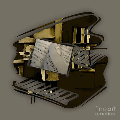 Piano Keys Mixed Media - Piano Collection by Marvin Blaine