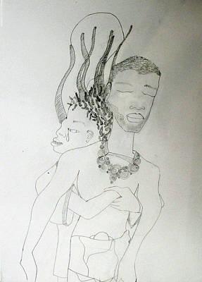 Drawing - Pieta by Gloria Ssali