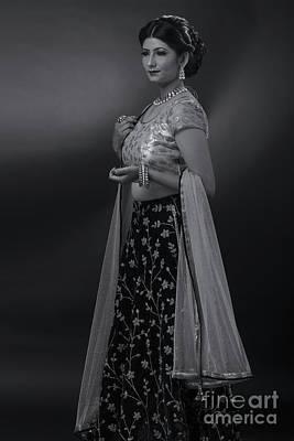 Photograph - Portrait Of Indian Lady by Kiran Joshi