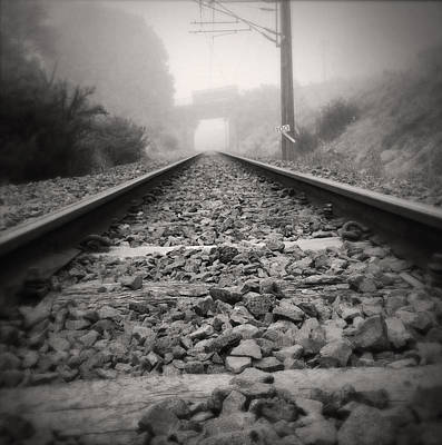 Train Tracks Photograph - Railway Tracks by Les Cunliffe