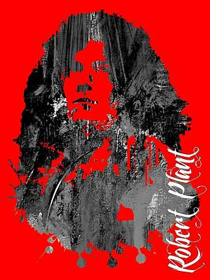 Robert Plant Collection Art Print by Marvin Blaine