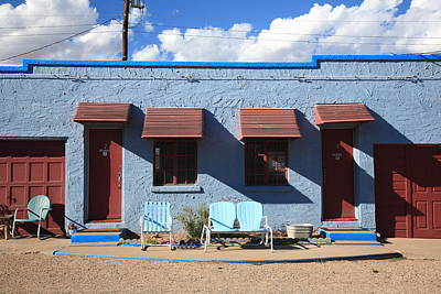 Photograph - Route 66 - Blue Swallow Motel by Frank Romeo