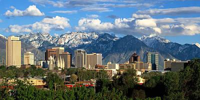 Photograph - Salt Lake City Skyline by Utah Images