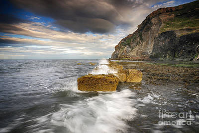 Yorkshire Photograph - Saltwick Bay by Nichola Denny