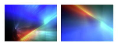 Abstract Lightart Photograph - 14 Shineonucrazydiamond Diptych 14 by David Hargreaves