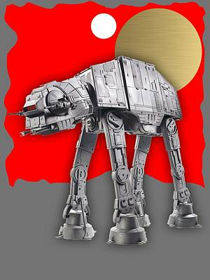 Mixed Media - Star Wars At-at Collection by Marvin Blaine