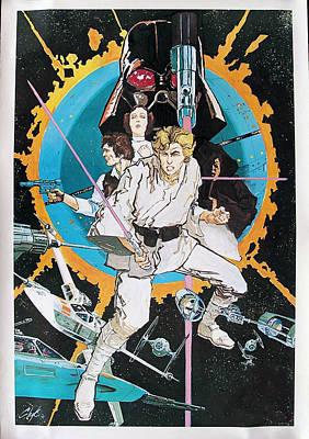 Storm Digital Art - Star Wars Episode Iv - A New Hope 1977 by Fine Artist