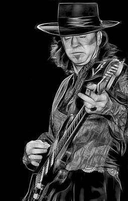 Music Mixed Media - Stevie Ray Vaughan Collection by Marvin Blaine