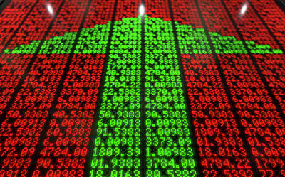 Stock Market Digital Board Art Print