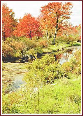 Photograph - Stream In Autumn, Pocono Mountains, Pennsylvania by A Gurmankin