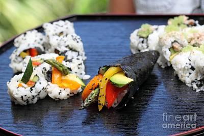 Photograph - Sushi California Roll by Henrik Lehnerer