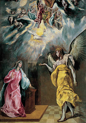 Virgin Painting - The Annunciation by El Greco