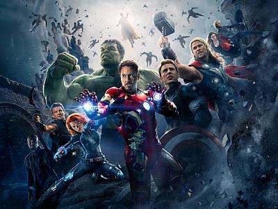 Ironman Digital Art - The Avengers Age Of Ultron 2015 by Fine Artist