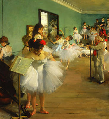 Child Ballerinas Painting - The Dance Class by Mountain Dreams