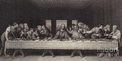 Bible Drawing - The Last Supper  by Leonardo Da Vinci