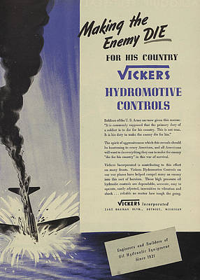 Violet Drawing - World War II Advertisement by American School