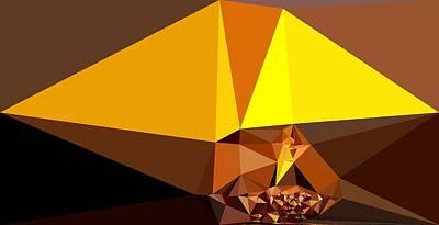 Abstract Art Landscape Of Triangles Art Print by Elena Kosvincheva