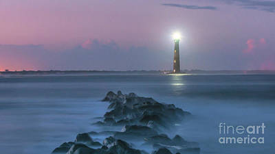 Digital Art - 140 Year Anniversary Lighting Of Morris Island Lighthouse by Dale Powell