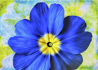 Digital Art - Blue Primrose by Bill Johnson