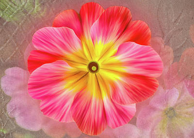 Digital Art - Pink Primrose #2 by Bill Johnson