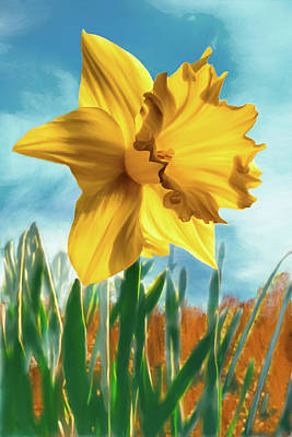 Digital Art - Daffodil by Bill Johnson
