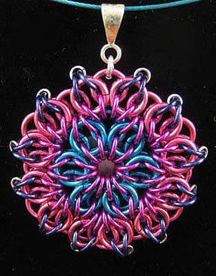 Jewelry - 1407 Aqua Rose Mandala by Dianne Brooks