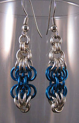 Jewelry - 1409 Butterfly Chain Earrings by Dianne Brooks