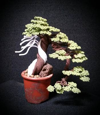 #141  Cloth Wrapped Wire Tree Sculpture Original by Ricks Tree Art