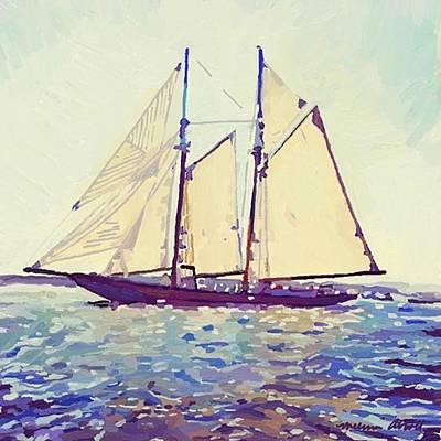 Photograph - 141' Replica Fishing/yacht Schooner by Melissa Abbott