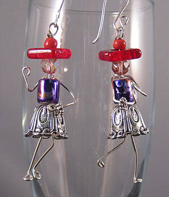 Jewelry - 1416 Red Hattitudes by Dianne Brooks