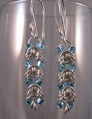 Jewelry - 1418 Aqua Emprezza Earrings by Dianne Brooks