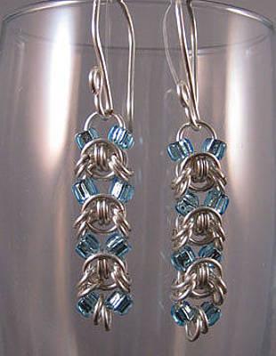 Jewelry - 1418 Aqua Emprezza Earrings by Dianne Brooks