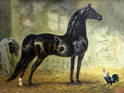 Morgan Horse Painting - #142 - Elm Hill Charter Oak by Jeanne Mellin Herrick