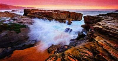 Oil Painting - Landscape Paintings Nature by Margaret J Rocha