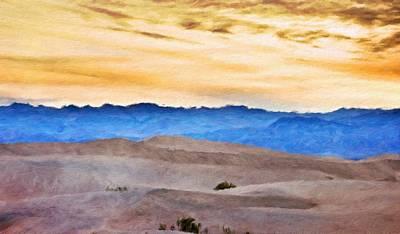Bushes Painting - Nature Landscape Artwork by Margaret J Rocha