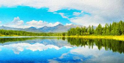 Idyllic Painting - Nature Oil Painting Landscape by Margaret J Rocha