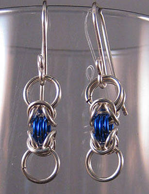 Jewelry - 1423 Silver Blue Byz Earrings by Dianne Brooks