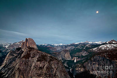 Photograph - 1424 Moon Over Half Dome by Steve Sturgill