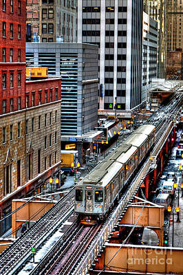 Photograph - 1436 Elevated Train Chicago by Steve Sturgill