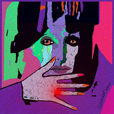 Digital Art - 1438 A Lady With Ruby Ring 2018 by Irmgard Schoendorf Welch
