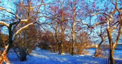 Bushes Painting - Nature Landscape Painting by Margaret J Rocha