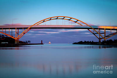 Photograph - 1441 Hoan Bridge Milwaukee  by Steve Sturgill