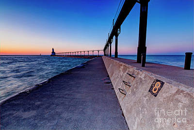 Photograph - 1445 Michigan City Indiana Lighthouse by Steve Sturgill