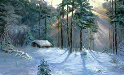 Trees Painting - Nature Landscape Pictures by Edna Wallen