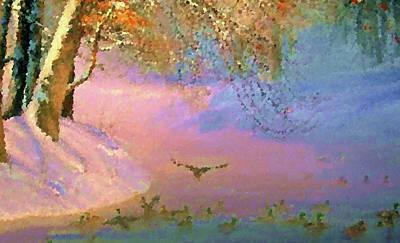Sunrise Painting - Nature Painted Landscape by Edna Wallen