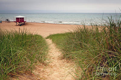 Photograph - 1456 Washington Park Beach Michigan City Indiana by Steve Sturgill