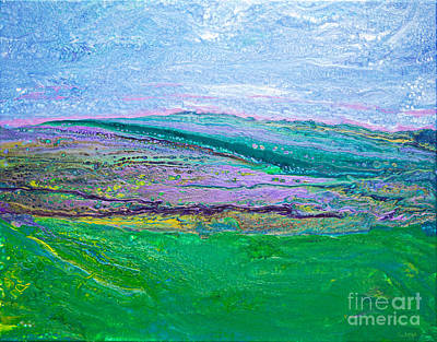 Painting - #1458 Mountain Escape by Expressionistart studio Priscilla Batzell