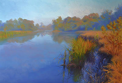 Spring Painting - Nature Cool Landscape by Edna Wallen