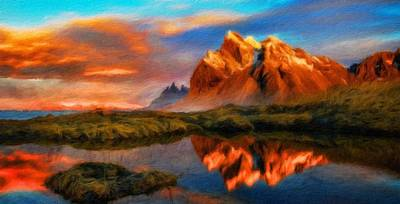 Bob Painting - Nature Cool Landscape by Margaret J Rocha