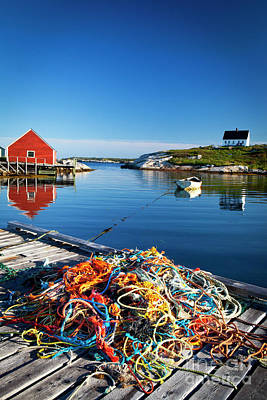 Photograph - 1466 Peggys Cove Harbor by Steve Sturgill